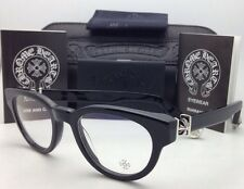 4107079086d New CHROME HEARTS Eyeglasses KAY GULLS BK 47-20 Black Frame with Sterling  Silver