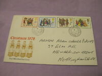 GB Royal Mail Stamps - First Day Cover / FDC - Christmas 1978