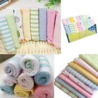 Baby Infant Towel Kids Boys Girls Bath Washcloth Bibs Pattern Random 8pcs Lot