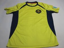 CA CLUB AMERICA Official  Soccer Futbol Shirt Jersey Size Large Yellow ~ 4050