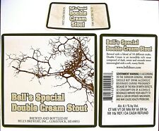 Bell's Brewery BELL'S SPECIAL DOUBLE CREAM STOUT beer label MI 12 oz Neck/Back