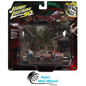 Johnny Lighting 1:64 Diorama - CHRISTINE - 1958 PLYMOUTH FURY W/FIGURES