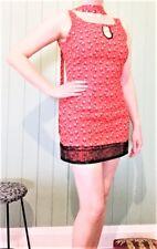 Black Key-Hole Floral Mini Lace Dress Tunic Size 10 New! ~EugeniaM Designs~
