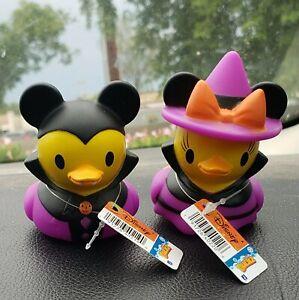 Halloween Disney Duckz  Minnie & Mickey Set BNWT HTF Bath Toy Rubber Duck