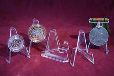 10 Acrilico Display Stand/Cavalletto Mini-MONETE/MEDAGLIE/Geocoin