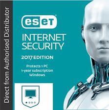 Eset Internet Security 2017- V10, 1 PC -1 Year for Windows - 24 Hours Delivery !
