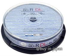10 Bluray Dual Layer 50gb BD-R DL 6x Speed No Logo Pro Bluray Printable by TDK