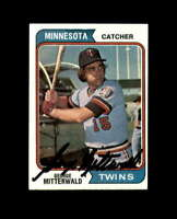 George Mitterwald Hand Signed 1974 Topps Minnesota Twins Autograph