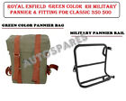 Royal Enfield Green Color RH Military Pannier & Fitting For Classic 350 500