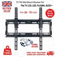 TV Wall Bracket Mount Tilt For 26 32 40 42 46 50 55 60 75 Inch 3D LCD LED Plasma