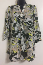 Ex Ladies Multi Color Floral Print Chiffon Shirt Button Up Blouse Top Size 10-20