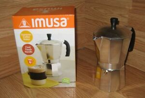 IMUSA 6 Cup Espresso Coffee Maker With Cool Touch Handle & Instructions *READ*