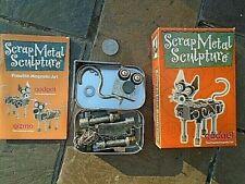 Scrap Metal posable Sculpture by gadget- Metal CAT crafting kit