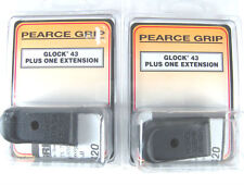 Pearce PG-43+1 Two Pack Glock 43 Magazine Plus One Round Mag Extensions