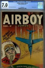 AIRBOY  8#2- CGC 7.0- HIGRADE FLYING SAUCER STRY-1951