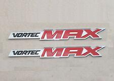 2x Chrome VORTEC MAX EMBLEMS BADGES Sierra SILVERADO 2500HD GM TRUCK red