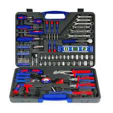 WORKPRO 139PC Handtool Set Bits Ratchet Sockets Pliers Repairing Tool Kit Case