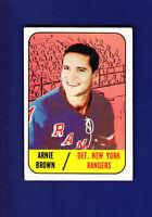 Arnie Brown 1967-68 TOPPS Hockey #89 (VGEX) New York Rangers