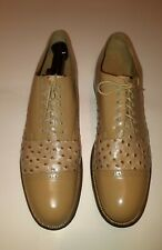 Stacy adams mens shoes size 12 D Madison Oxford beige ostrich print . Preowned .