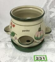 Stone Ware Indoor Herb Planter / Pot Window Pot With Drip Plate