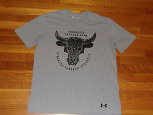 UNDER ARMOUR HEATGEAR PROJECT ROCK SHORT SLEEVE LOOSE T-SHIRT MENS LARGE EXC.