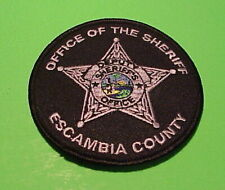 ESCAMBIA COUNTY  FLORIDA  ( DEPUTY ) ( SILVER )  POLICE PATCH   FREE SHIPPING!!!