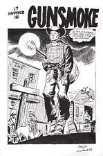 Stan Lee Vic Carrabotta Outlaw Kid 11 Original Art Title Splash Pg Signed ATLAS