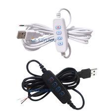 5V LED Dimmer USB Port Power Line With ON OFF Switch Adapter For LED Light Bulb