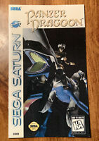 PANZER DRAGOON Custom Game Instruction Replacement Manual Only For Sega Saturn