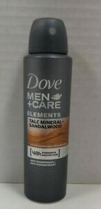 6 X Dove MEN+Care Talc Mineral & Sandalwood Antiperspirant Deodorant Body Spray