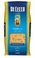1x Pasta De Cecco 100% Italienisch Fusilli No. 34 - Nudeln aus Italien 1x 500g