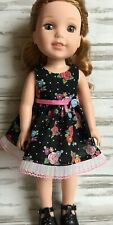 "Mary Engelbreit Dress fits 14.5"" American Girl Wellie Wishers Doll Clothes"
