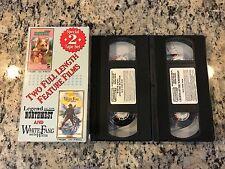 LEGEND OF THE NORTHWEST + WHITE FANG AND THE HUNTER 2 VHS TAPE LOT FAMILY ACTION