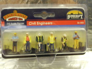 ** Bachmann 36-052 Civil Engineers (6) 1:76 00 Scale