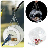 Outdoor Clear Hanging Chalet Bird Feeder for Peanut and Nut Plastic Feeder