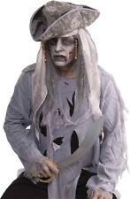 Morris Costumes Men's Zombie Pirate Black, White Wig. FM66620