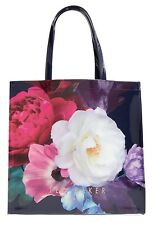 TED BAKER LONDON Blushing Bouquet Large Icon Tote Bag Floral Navy NWT