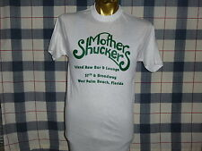 VINTAGE 80s MOTHER SHUCKERS ISLAND RAW BAR & LOUNGE WEST PALM BEACH FL T SHIRT S