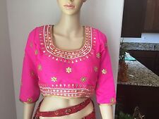 Raw Silk Gota Patti Sari Blouse