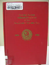 National Society COLONIAL DAUGHTERS OF THE SEVENTEENTH CENTURY Lineage Book