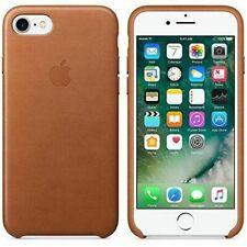 Apple iPhone 7 Leder Case Sattelbraun