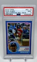 2018 Topps OZZIE ALBIES 1983 35th Aniv. Blue Rookie RC PSA 9