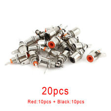 20Pcs Jack Panel Mount RCA Female Socket Connectors Adapter Metal Connector