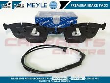 FOR BMW 535D 535 E60 E61 REAR MEYLE BRAKE PADS SET WEAR SENSOR MSPORT M SPORT