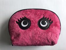 Make-up Bag, cosmetic bag, Toiletry Bag By Stella & Max Fluffy Pink Googley Eyes