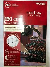 Holiday Living 150 ct. Multicolored Net Christmas Lights New 0779319