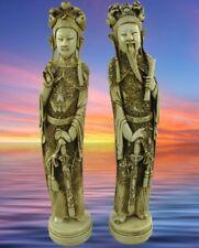 KAISER KAISERIN China Polyst Elfenbein farben Skulptur Dekor Geschenk Figuren
