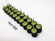 10 set Samed Wheels glow in dark rubber wheels for HW 1:64 scale cars #26