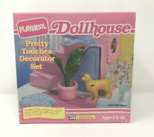 Playskool Dollhouse Vintage New In Box Pretty Touches Decor Set Dog Plant