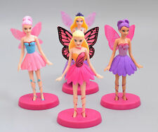 Butterfly Fairies Set Flying Tinkerbell Doll Action Figure Cake Decor Topper Toy